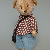 Куклы и игрушки ручной работы. Ярмарка Мастеров - ручная работа Мишка тедди в джинсах. Handmade.