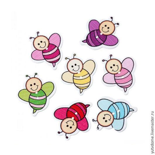 """Шитье ручной работы. Ярмарка Мастеров - ручная работа. Купить 0470 Пуговицы деревянные """"Пчелы1"""". Handmade. Дерево, пуговицы декоративные"""