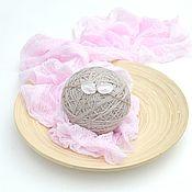 Работы для детей, handmade. Livemaster - original item A gauze wrapping for the photo shoot newborn meditates, wearing pink. Handmade.
