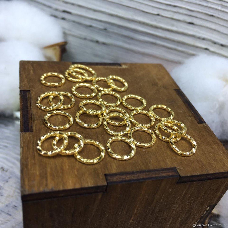 Колечки соединительные 8 мм желтое золото, Фурнитура, Краснодар,  Фото №1