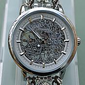 """Украшения ручной работы. Ярмарка Мастеров - ручная работа Часы-скелетоны """"Узоры серебром"""" (часы наручные). Handmade."""