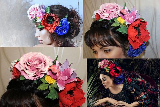 Венки, ободки с цветами Татьяны Радочиной Свадебные аксессуары, украшения для фотосессий