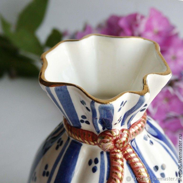 Porcelain small vase, Vases, Sergiev Posad,  Фото №1