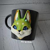 Посуда handmade. Livemaster - original item Fox Mug Space Fox. Handmade.