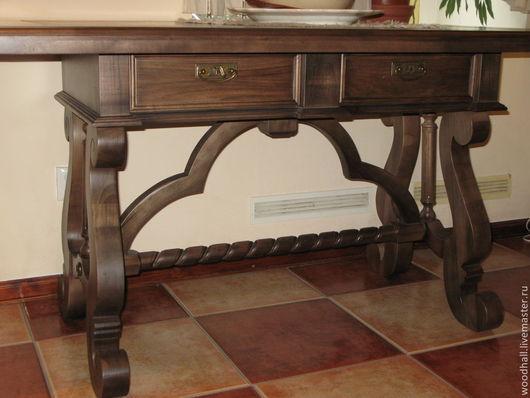 """Мебель ручной работы. Ярмарка Мастеров - ручная работа. Купить Стол """"Лео"""". Handmade. Коричневый, стол, мебель для дома"""