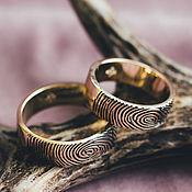 Украшения handmade. Livemaster - original item Engagement rings lemon gold 585 with fingerprints. Handmade.