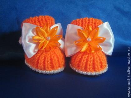 Для новорожденных, ручной работы. Ярмарка Мастеров - ручная работа Пинетки для новорожденного. Handmade.