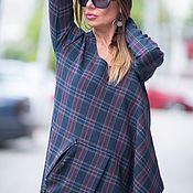 Одежда handmade. Livemaster - original item Dress, Dress plaid Asymmetrical dress. Handmade.