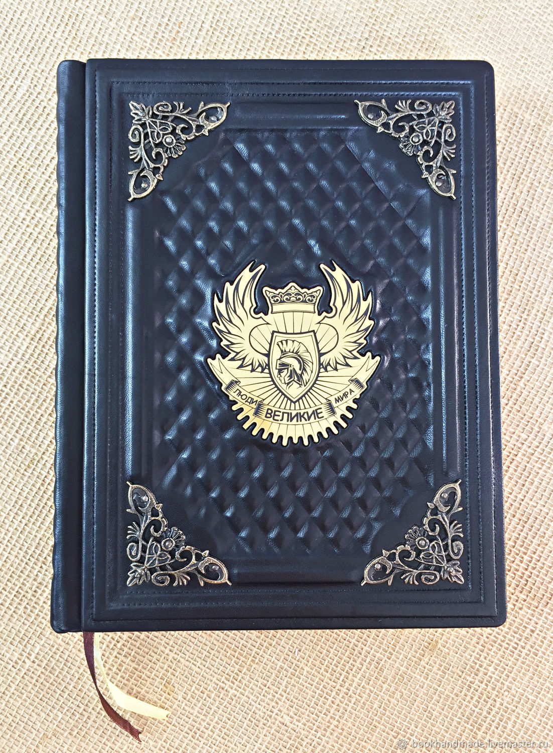 GREAT PEOPLE of the WORLD (gift leather book), Name souvenirs, Moscow,  Фото №1