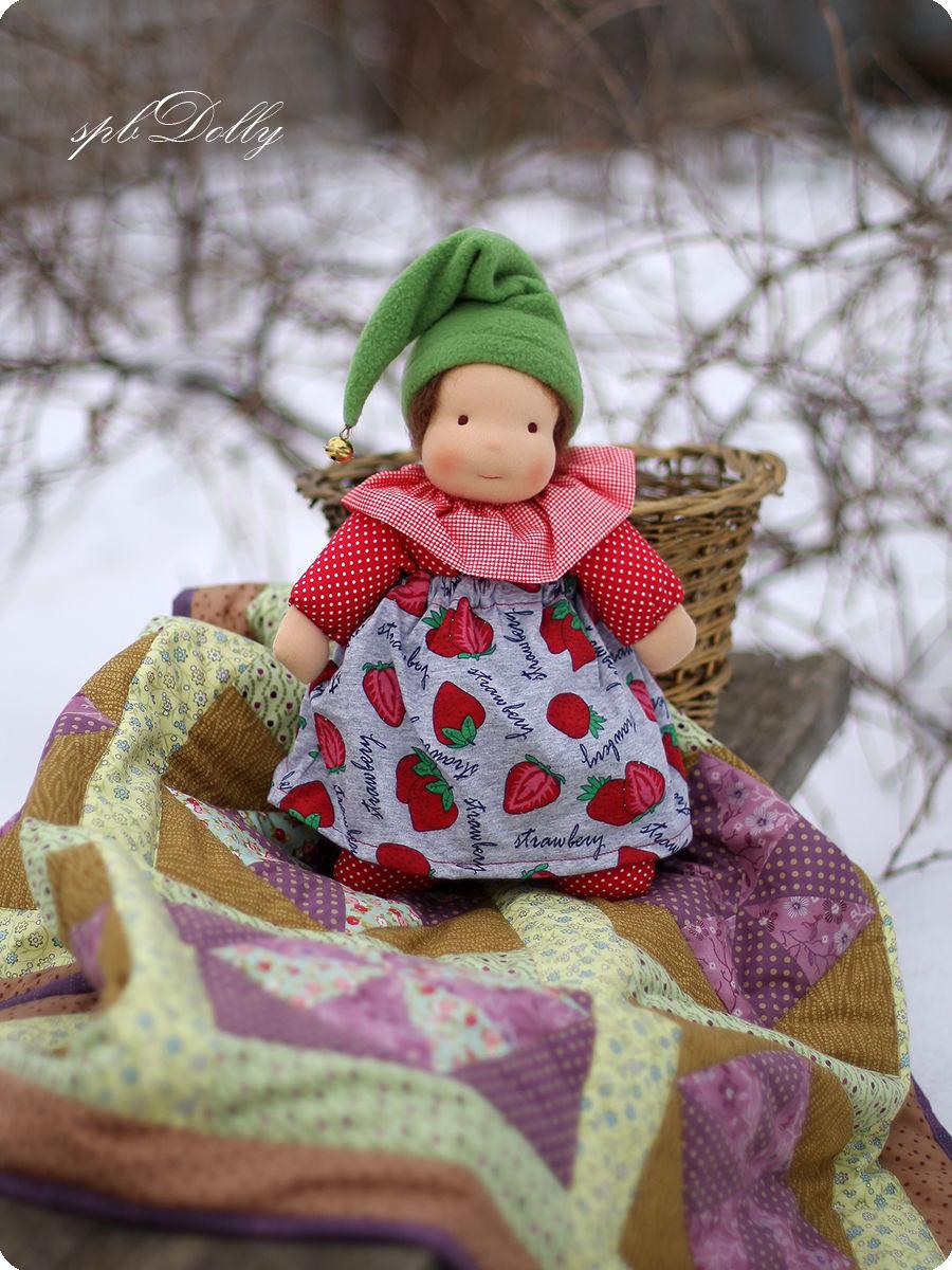 Ягодка - садовая гномочка - вальдорфская кукла ручной работы, Вальдорфские куклы и звери, Санкт-Петербург,  Фото №1