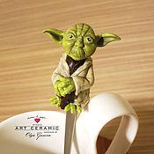 """Посуда ручной работы. Ярмарка Мастеров - ручная работа Ложка с декором """"Мастер Йода"""". Handmade."""