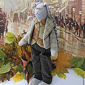 """Куклы и игрушки ручной работы. Ярмарка Мастеров - ручная работа По мотивам """"Арчибальд в Лондоне"""" Кролик джентельмен. Handmade."""