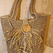 Сумки и аксессуары handmade. Livemaster - original item Bucket bag made of jute