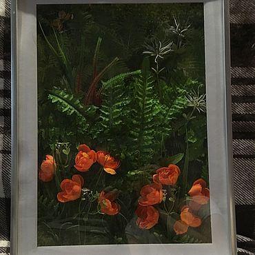Картины и панно ручной работы. Ярмарка Мастеров - ручная работа Фотокартины: Жарки и папоротник. Handmade.