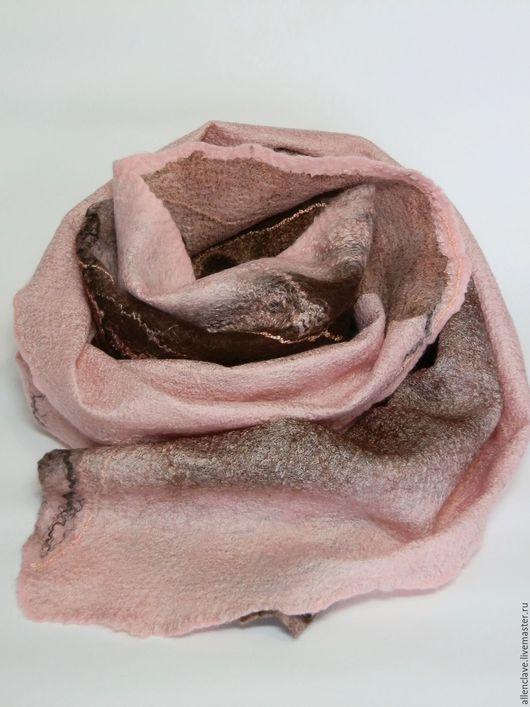Шарфы и шарфики ручной работы. Ярмарка Мастеров - ручная работа. Купить шарф валяный В шоколадной глазури. Handmade. Разноцветный