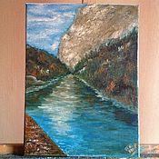 Картины и панно handmade. Livemaster - original item Lake,Urbina,Italy. Handmade.