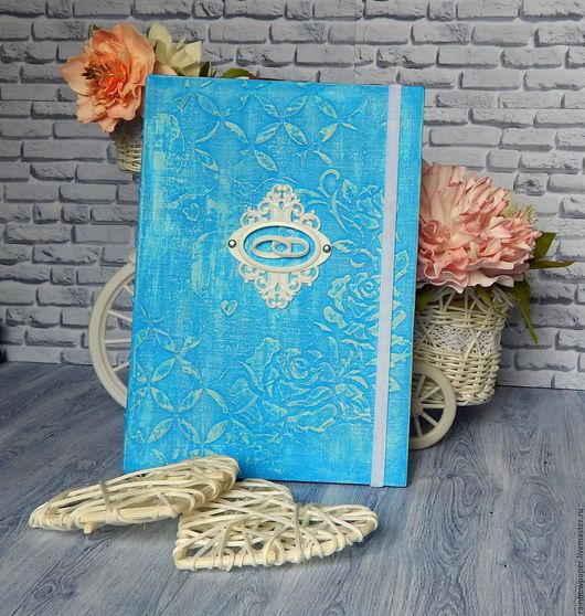 Блокноты ручной работы. Ярмарка Мастеров - ручная работа. Купить Дневник невесты. Handmade. Голубой, планирование свадьбы