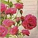 Салфетка для декупажа `Розовые розы` - 179 Декупажная радость