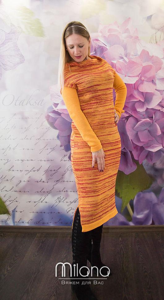 Платья ручной работы. Ярмарка Мастеров - ручная работа. Купить Вязаное платье Золотая роза. Handmade. Желтый, вязаное платье