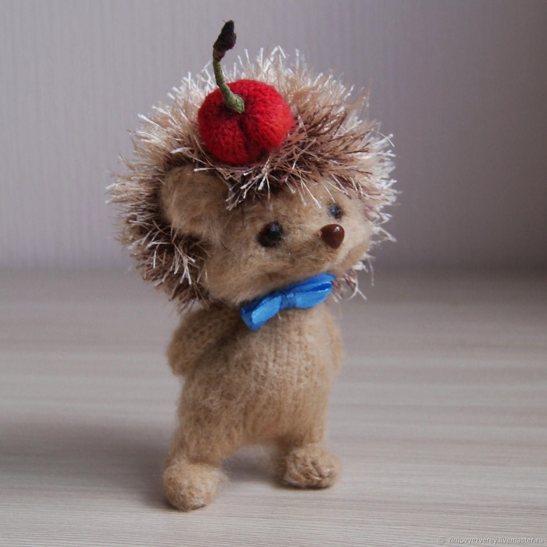 Ёжик с вишенкой, Мягкие игрушки, Санкт-Петербург,  Фото №1
