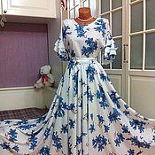 Одежда ручной работы. Ярмарка Мастеров - ручная работа Платье в пол с юбкой солнце Колокольчики. Handmade.