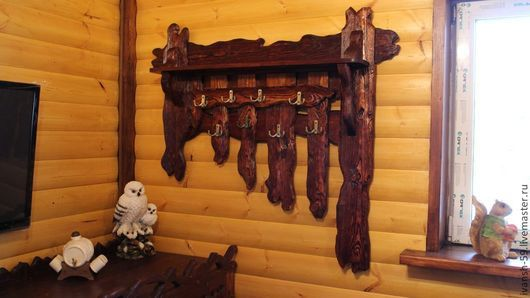 Прихожая ручной работы. Ярмарка Мастеров - ручная работа. Купить Вешалка № 2 деревянная. Handmade. Вешалка, вешалка для дома