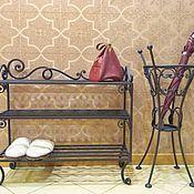 Для дома и интерьера handmade. Livemaster - original item Shoe Cabinet forged