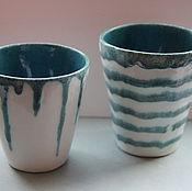 Посуда ручной работы. Ярмарка Мастеров - ручная работа Стаканы керамические Он и Она. Handmade.