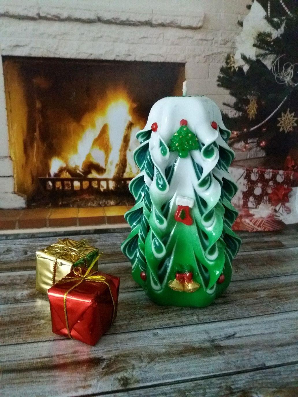 Свеча Елочка зеленая подарок на Новый год Корпоративные подарки, Свечи, Санкт-Петербург,  Фото №1