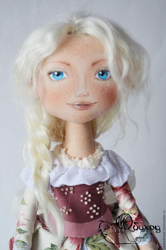 Коллекционные куклы ручной работы. Ярмарка Мастеров - ручная работа. Купить Куколка Принцесса. Handmade. Бежевый, натуральные волосы, лён