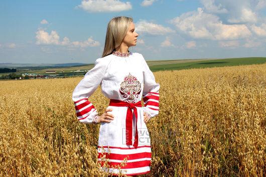 """Платья ручной работы. Ярмарка Мастеров - ручная работа. Купить Платье """"Алатырь"""". Handmade. Белый, платье льняное, вышивка на льне"""
