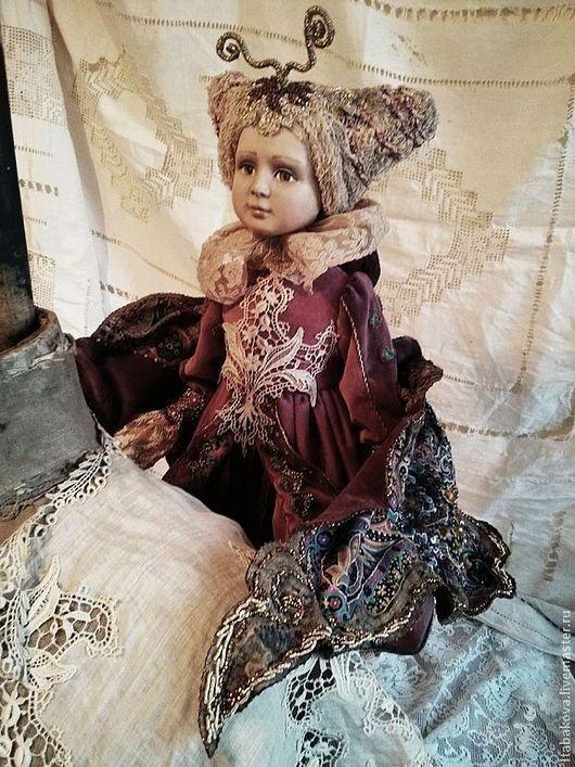 Коллекционные куклы ручной работы. Ярмарка Мастеров - ручная работа. Купить Рождественская бабочка. Handmade. Фуксия, бисер, бархат