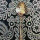 """Серебряная кофейная ложка """"АМПИР"""" с резным черпалом и вставкой-камнем (зеленый лунный камень). Столовое серебро всегда считалось хорошим подарком на свадьбу или её годовщины, юбилей..."""
