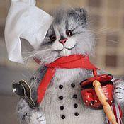 Куклы и игрушки handmade. Livemaster - original item Who assistant in the kitchen? Cat chef. Handmade.