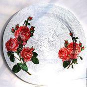 """Для дома и интерьера ручной работы. Ярмарка Мастеров - ручная работа Тарелка 23 см интерьерная """"Любимые розы"""". Handmade."""