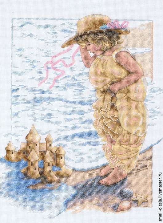 Люди, ручной работы. Ярмарка Мастеров - ручная работа. Купить Замки из песка.. Handmade. Картина в подарок, картина для интерьера