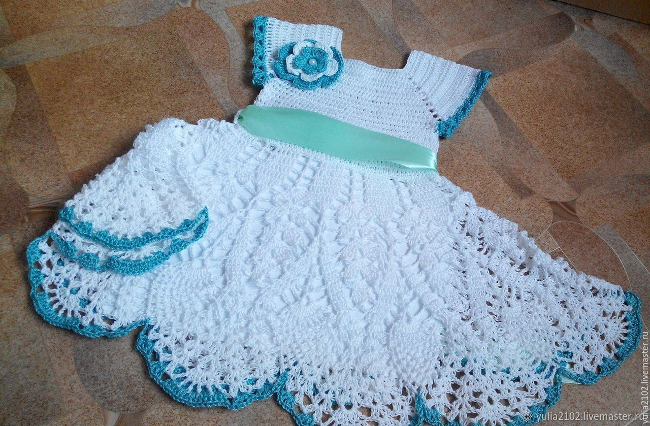 Одежда для девочек, ручной работы. Ярмарка Мастеров - ручная работа. Купить Платье нарядное для девочки ажурное вязаное крючком. Handmade.