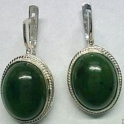 Украшения handmade. Livemaster - original item earrings jade. Handmade.
