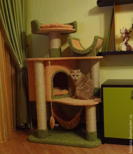 """Аксессуары для кошек, ручной работы. Ярмарка Мастеров - ручная работа. Купить """"Вдохновение"""" домик для кошек. Handmade. Домик для кошки, надежный"""