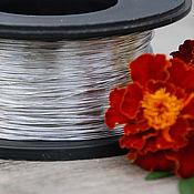 Материалы для творчества handmade. Livemaster - original item 0,4 mm copper Wire, silver. Handmade.