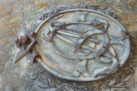 Элементы интерьера ручной работы. Ярмарка Мастеров - ручная работа. Купить Декоративная металлизация. Дверь.. Handmade. Бронза, бронза