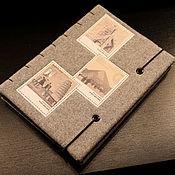 Канцелярские товары ручной работы. Ярмарка Мастеров - ручная работа Твидовый блокнот-эскизник,формат А5.. Handmade.