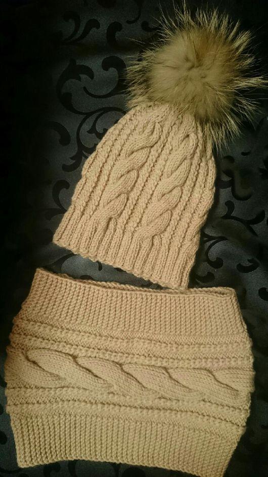 Комплекты аксессуаров ручной работы. Ярмарка Мастеров - ручная работа. Купить Набор шапка и снуд. Handmade. Зимняя шапка, шерсть