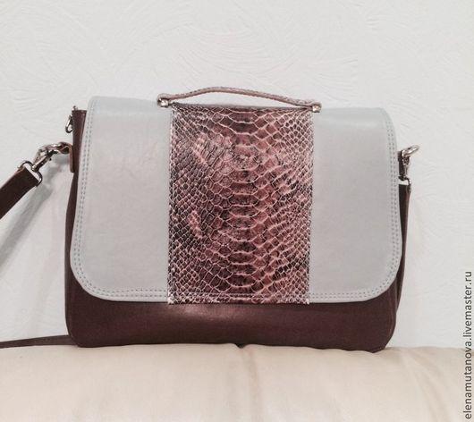 Женские сумки ручной работы. Ярмарка Мастеров - ручная работа. Купить женская кожаная сумка. Handmade. Коричневый, на молнии