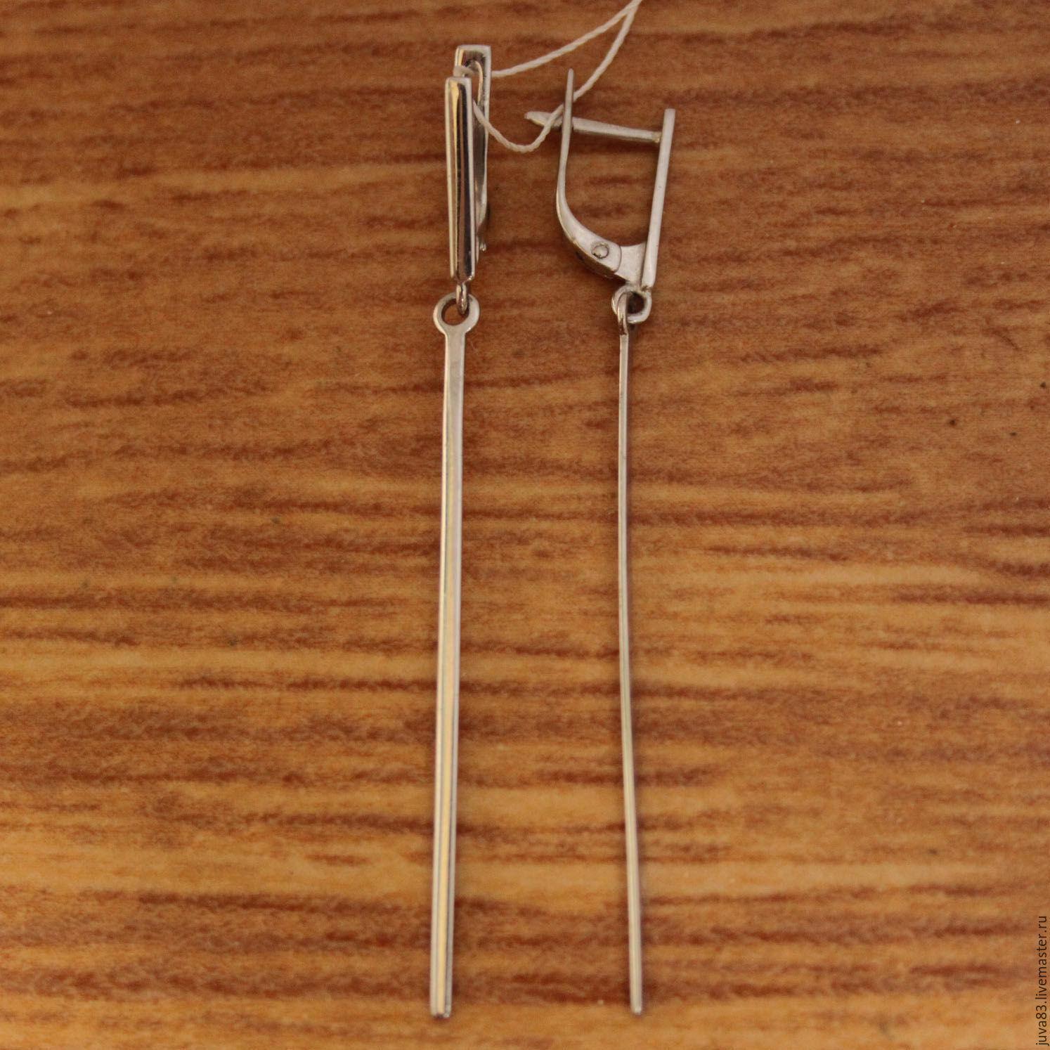 Серебряные серьги Стрела, серебро 925, Серьги, Севастополь, Фото №1