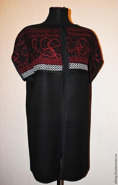 Жилеты ручной работы. Ярмарка Мастеров - ручная работа. Купить жилет удлиненный. Handmade. Черный, одежда для женщин, одежда на осень