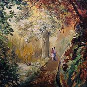 """Картины ручной работы. Ярмарка Мастеров - ручная работа Картина маслом. """"Осенняя прогулка"""". Пейзаж. Handmade."""