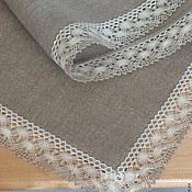 Для дома и интерьера ручной работы. Ярмарка Мастеров - ручная работа Скатерть льняная серая, размер 1.05m x 1.05m. Handmade.