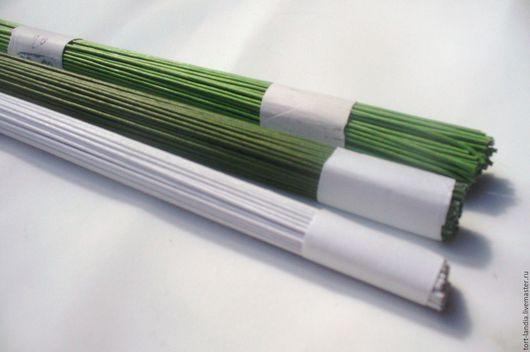 Материалы для флористики ручной работы. Ярмарка Мастеров - ручная работа. Купить Проволока №22 в бумажной оплётке - 3 цвета - 31 см - 100 штук. Handmade.