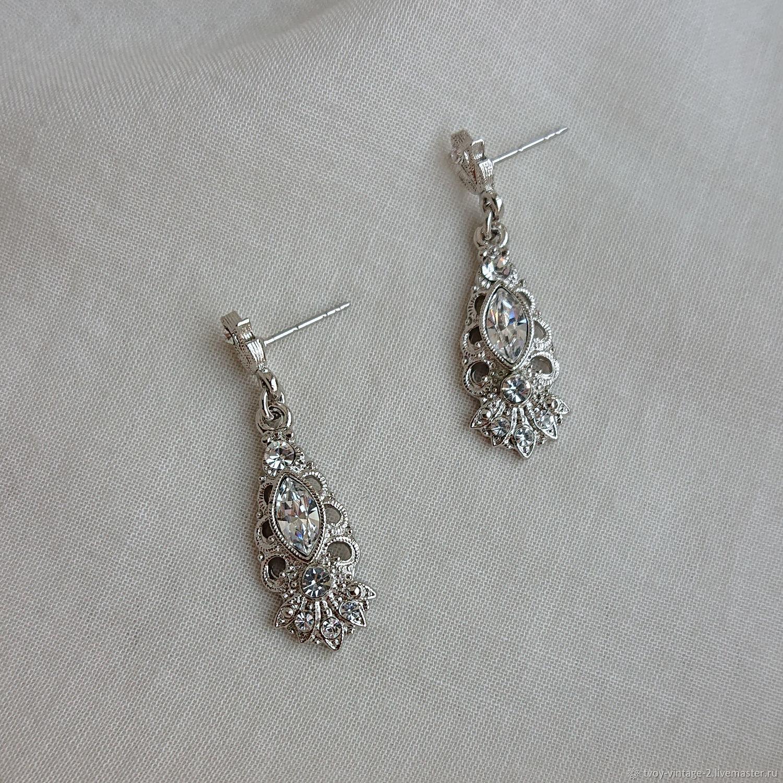 Винтаж: Серьги 1928 Jewelry «Мерцающее серебро», Серьги винтажные, Москва,  Фото №1